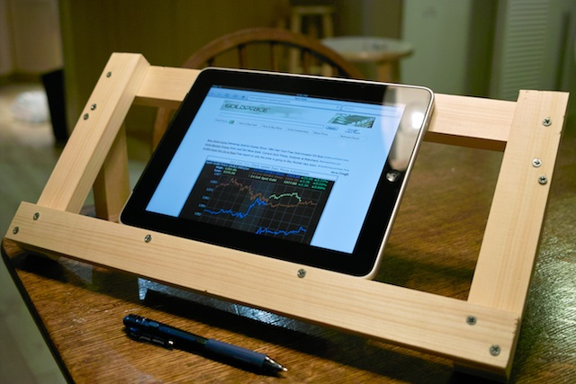 Wooden book and ipad stand do it yourself project my book and ipad holderstand solutioingenieria Image collections